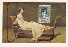 Carte-Maximum FRANCE N° Yvert 875 (Mme RECAMIER) Obl Sp 1er Jour Lyon  (Ed Nomis -Portrait Par David) RR - 1950-59