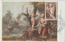 Carte-Maximum FRANCE N°Yvert 877 (L'Amour) Obl Ill Congrès Phil Bordeaux (Ed Musée Postal) - Cartas Máxima