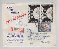 REF509/ TP 1508(2) Alunissage 21/7/69 + TP Journée TP C.Bruxelles Loket Spécial 8/6/71 Ancienne Maison Gisquière > E/V - Storia Postale