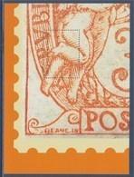 = Bloc Gommé Neuf Le Timbre Type Blanc De 1900  Phil@poste Sans Valeur 1/4 Timbre Bas Gauche - Sheetlets