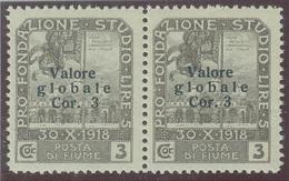 ITALIA - FIUME SASS. 109u + 109 COPPIA NUOVA - Fiume