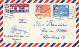 SINGAPUR - AIR MAL 1960 Nach HAMM /ak551 - Singapour (1959-...)