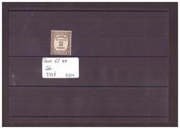 FRANCE - No Yvert Taxe 62  ** ( SANS CHARNIERE )  COTE: 334 €   à 10% De La Cote!!! - 1859-1955 Mint/hinged