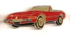 L193 Pin's CABRIOLET  PORSCHE ROUGE Ou Ferrari Ou ?? Achat Immédiat - Ferrari