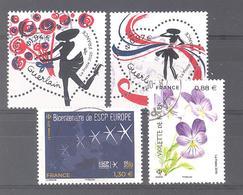 France Oblitérés : Coeur De Guerlain (0,97 Et 1,94) - Bicentenaire De ESCP Europe & 5321 (cachet Rond) - France