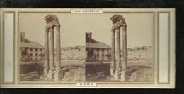 Carte Stereo   Rome Temple De Castor Et Polux  Forum - Piazze