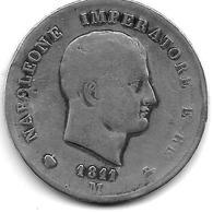 *italy Kingdom Of Napoleon 5 Lire 1811M  Km 10.4 - Temporary Coins
