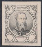 Essai (Léopold II) - 3e Proposition De J. Delpierre Gravue En Taille Douce Sur Papier Blanc épais : Noir STES 1414 / Pli - Prove E Ristampe