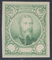 Essai (Léopold II) - 3e Proposition De J. Delpierre Gravue En Taille Douce Sur Papier Blanc épais : Vert STES 1417 - Prove E Ristampe