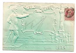 Année, Date - 1906, 75e Anniv Indépendance Belge - Léopold Gaufrée Gauffrée - Belgio