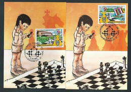 Roumanie. Lot De  8 Cartes Maximum. Jeux  Echecs. 1992. En Parfait état. Scans Recto/verso. - Echecs
