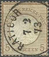Dt. Reich 6 O, 1872, 5 Gr. - Oblitérés