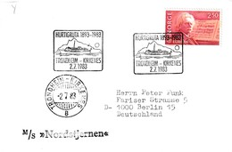 Norway 1983 Cover: Europa CEPT Music Composers Edward Grieg; Transport Ship M/S Nordstjernen; Hurtigruta 1893 - 1983 - Schiffe