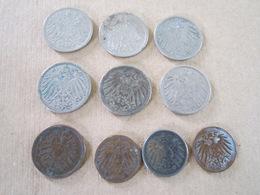 10 Pièces De Monnaies Allemandes WWI - Equipement