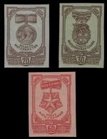 Russia / Sowjetunion 1945 - Mi-Nr. 968-970 B ** - MNH - Medaillen - 1923-1991 UdSSR