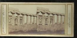 Carte Stereo  Paestum Interieur De La Basilica - Altre Città