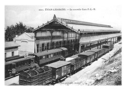 EVIAN-LES-BAINS - La Nouvelle Gare (reproduction) - Evian-les-Bains