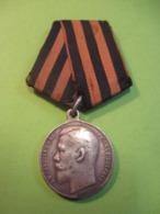 Médaille Ordre De Saint Georges/4éme Classe/Effigie De Nicolas II/Argent/avec N°d'attribution/1913- 1917   MED361 - Rusia
