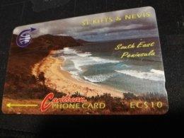 ST KITTS & NEVIS  $10,- MINT ERROR SERI NO: 3CSK 005657    RRRR     ** 331** - Saint Kitts & Nevis