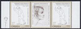 Serbia 2020 Painter And Writer Momo Kapor, Stamp-vignette-stamp, MNH (**) - Serbia