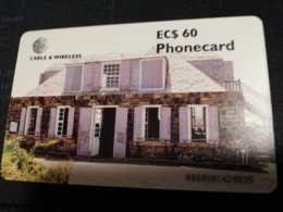 ANTIGUA  $60,- CHIPCARD  LOOKOUT SHIRLEY HEIGHTS   Fine Used Card  ** 334 ** - Antigua E Barbuda
