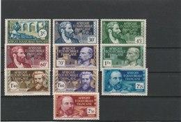 A.E.F.TIMBRES**LUXE SERIE COMPLETE N° 77/86 COTE 12.60 EUROS - A.E.F. (1936-1958)