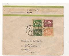 FRANCE 1935 ENVELOPPE DU 26-10-35 DE VITTEL (VOSGES)  POUR NARBONNE (AUDE) - 1921-1960: Modern Tijdperk