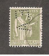 Perfin/perforé/lochung France No 284A  E.A Sté Nouvelle Des Ets ADT - France