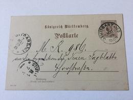 GÄ32343 Württemberg Ganzsache Stationery Entier Postal P 39 Ortskarte Von Stuttgart - Wuerttemberg