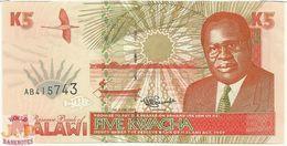 MALAWI 5 KWACHA 1995 PICK 30 UNC - Malawi