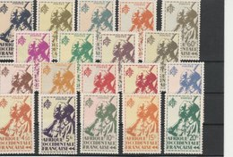 A.O.F. TIMBRES**LUXE SERIE COMPLETE N° 4/22 COTE 20.70 EUROS - A.O.F. (1934-1959)