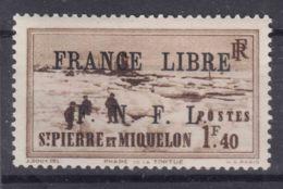 St. Pierre & Miquelon 1941 FRANCE LIBRE Mi#271 Mint Hinged - Nuovi