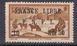 St. Pierre & Miquelon 1941 FRANCE LIBRE Mi#278 Mint Hinged - St.Pierre Et Miquelon