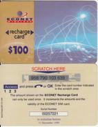 ZIMBABWE - Econet Recharge Card $100, Exp.date 31/12/99, Used - Zimbabwe