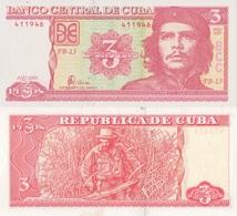 Cuba / 3 Pesos / 2005 / P-127(b) / UNC - Cuba
