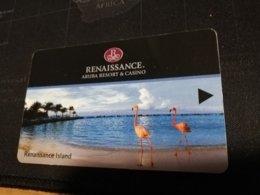 ARUBA KEY HOTEL Renaissance Aruba Resort & Casino FLAMINGOS   ** 337 ** - Hotelkarten