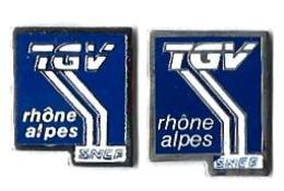 TGV SUD EST - SE30 - TGV RHONE-ALPES - 2 Modèles - Verso : PIN / SM - TGV