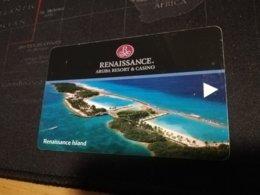 ARUBA KEY HOTEL Renaissance Aruba Resort & Casino  RENAISSANCE ISLAND VIEUW   ** 338 ** - Hotelkarten