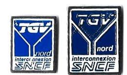 TGV AUTRES - TA12 - TGV NORD - INTERCONNEXION - 2 Modèles - Verso : PIN - TGV
