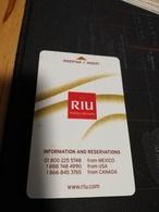 RIU HOTELS EN RESORTS ARUBA CARD   ** 342 ** - Hotelkarten