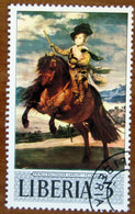 1969 LIBERIA Arte Dipinti Painting Velazquez Prince Balthasar Carlos On Horseback - 3 -  Usato - Liberia