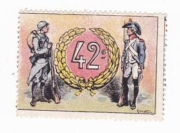 Vignette Militaire Delandre - 42ème Régiment D'infanterie - Vignettes Militaires