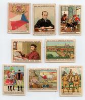 ANNEES 50 PUBLICITE CHOCOLAT PUPIER LOT 8 IMAGES CHROMOS TCHECOSLOVAQUIE - Artis Historia