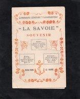 """Bateau """"LA SAVOIE"""" Souvenir - New-York - Le Havre - Compagnie Générale Transatlantique - Descriptif Et Itinéraire - Vieux Papiers"""