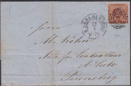 1863. 2 + KDOPA HAMBURG To Pinneberg.  4 S KGL POST FRIM.  () - JF321182 - 1851-63 (Frederik VII)