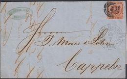 1857. 2 + KDOPA HAMBURG 31 7 To Cappeln.  4 S KGL POST FRIM. GEBRUDER JAFFÉ HAMBURG.  () - JF321191 - Lettres & Documents