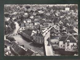 CP (21) En Avion Au Dessus De ... Is-sur-Tille  -  Grande Place Et Pont Sur L'Ignon - Is Sur Tille