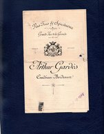 CAUDERAN - BORDEAUX / Vins Fins & Spiritueux - Grands Vins De La Gironde - Arthur GARDES - Détail Des Vins Et Prix - Casquettes & Bobs