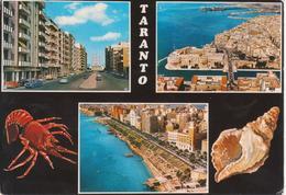 TARANTO - VEDUTINE MULTIVUES - VIA DANTE E CHIESA CON CATTEDRALE - PANORAMA - LUNGOMARE - AUTO D'EPOCA CARS VOITURES - Taranto