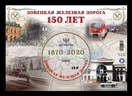 Ukraine (Donetsk) 2020 #175 (Bl.36) Donets Railway. Locomotives. Automobile MNH ** - Ucrania